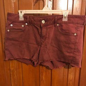 Maroon American Eagle shorts